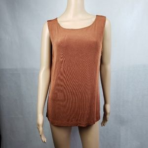 🔴SALE🔴 Chico's Brown Textured Sleeveless Size 2